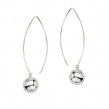 Midas Sterling Silver Long Wire Drop Earrings