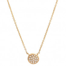 Lau International Yellow Gold Diamond Infinity Necklace