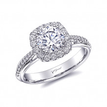 14k White Gold Coast Diamond 0.28ct Diamond Semi-Mount Fishtail Engagement Ring