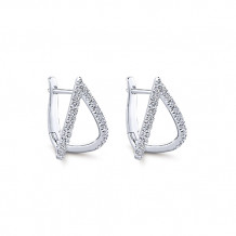 Gabriel & Co. 14k White Gold Kaslique Diamond Huggie Earrings - EG13174W45JJ