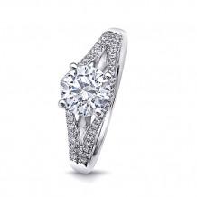 14k White Gold Coast Diamond 0.21ct Diamond Semi-Mount Fishtail Engagement Ring