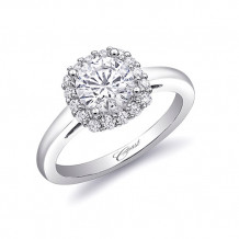 14k White Gold Coast Diamond 0.27ct Diamond Semi-Mount Engagement Ring