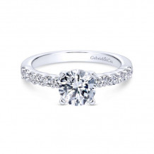 Gabriel & Co. 14k White Gold Contemporary Straight Diamond Engagement Ring - ER6874W44JJ
