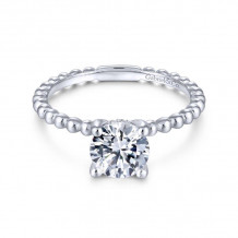 Gabriel & Co. 14k White Gold Contemporary Solitaire Diamond Engagement Ring - ER13912R4W44JJ