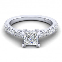 Gabriel & Co. 14k White Gold Contemporary Straight Diamond Engagement Ring - ER12292S4W44JJ