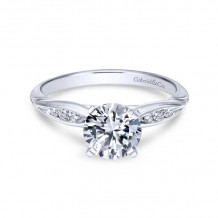 Gabriel & Co. 14k White Gold Contemporary Straight Diamond Engagement Ring - ER11749R3W44JJ