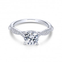 Gabriel & Co. 14k White Gold Contemporary Twisted Diamond Engagement Ring - ER13859R4W44JJ