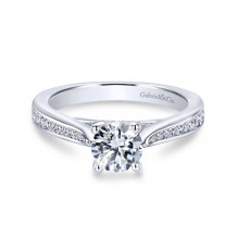Gabriel & Co. 14k White Gold Contemporary Straight Diamond Engagement Ring - ER12318R3W44JJ