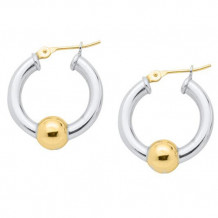 Sterling Silver 14K Gold Single Bead earrings