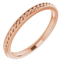 14K Rose 2 mm Rope Band Size 7