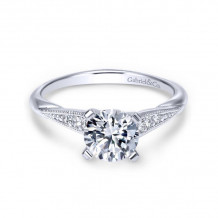 Gabriel & Co. 14k White Gold Contemporary Straight Diamond Engagement Ring - ER11750R4W44JJ