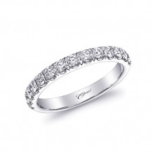 Coast 14k White Gold 0.49ct Diamond Wedding Band