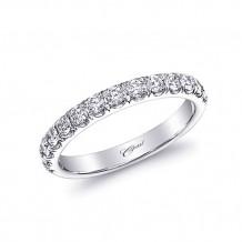 Coast 14k White Gold 0.49ct Diamond Wedding Band