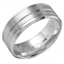 CrownRing 14k White Gold Classic 8mm Wedding Band - WB-9504