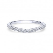 Gabriel & Co. 14k White Gold Contemporary Curved Wedding Band - WB12813R4W44JJ
