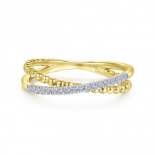 Gabriel & Co. 14k Yellow Gold Bujukan Diamond Ring - LR51463Y45JJ
