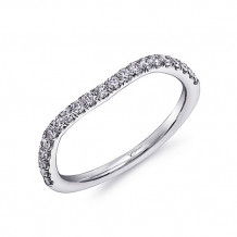 Coast 14k White Gold 0.31ct Diamond Wedding Band