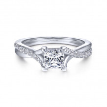 Gabriel & Co. 14k White Gold Contemporary Twisted Diamond Engagement Ring - ER11794S3W44JJ