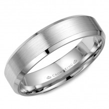 CrownRing 14k White Gold Classic 5mm Wedding Band - WB-7281