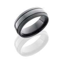 Lashbrook Zirconium Band With Bead Polish Men's Wedding Wedding Band