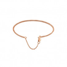 Gabriel & Co. 14k Rose Gold Twisted Rope Styled Diamond Bangle Bracelet