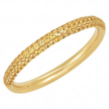 14k Yellow Gold Stuller Yellow Sapphire Stackable Ring