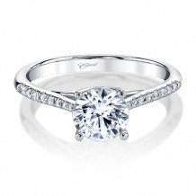 14k White Gold Coast Diamond 0.13ct Diamond Semi-Mount Fine Pave Milgrain Engagement Ring
