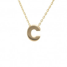 Lau International 14k Yellow Gold Initial C Pendant with Chain