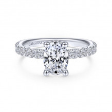 Gabriel & Co. 14k White Gold Contemporary Straight Diamond Engagement Ring - ER14649O4W44JJ