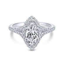 Gabriel & Co. 14k White Gold Entwined Halo Diamond Engagement Ring - ER12649M4W44JJ