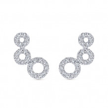 14k White Gold Gabriel & Co. Diamond Comets Stud Earrings