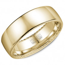 Crown Ring 14k Yellow Gold Wedding Band
