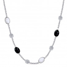 Gabriel Silver Infinite Gems Multi Color Necklace NK4301ETSVJMC
