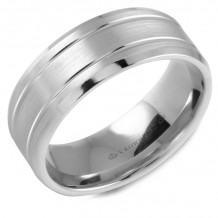 CrownRing 14k White Gold  Classic 8mm Wedding Band - WB-9508