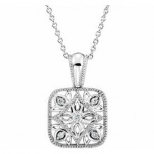 """Sterling Silver .05 CTW Diamond Accented 18"""" Necklace"""