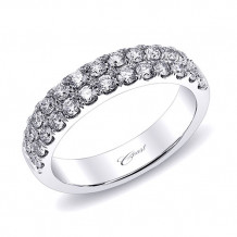 Coast 14k White Gold 0.79ct Diamond Wedding Band