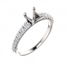 Stuller 14k White Gold 1/3ct Diamond Engagement Ring