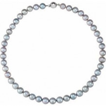 """Sterling Silver Freshwater Cultured Gray Pearl 18"""" Strand"""
