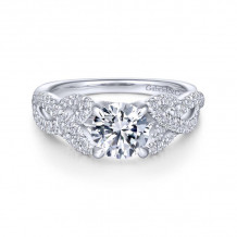Gabriel & Co. 14k White Gold Contemporary Twisted Diamond Engagement Ring - ER14420R4W44JJ