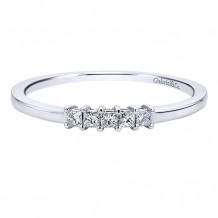 Gabriel & Co 14k White Gold Princess Cut Straight Anniversary Band