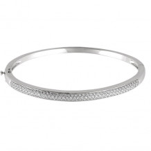 Stuller 14k White Gold Polished Diamond Bracelet