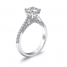 14k White Gold Coast Diamond 0.27ct Diamond Semi-Mount Fishtail Engagement Ring