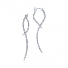 Gabriel & Co. 14k White Gold Kaslique Diamond Drop Earrings - EG12457W45JJ