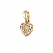 Lau International 14K Rose Gold Diamond Heart Pendant