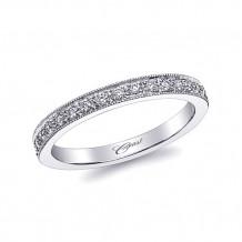 Coast 14k White Gold 0.17ct Diamond Wedding Band