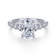 Gabriel & Co. 14k White Gold Contemporary Straight Diamond Engagement Ring - ER11757O6W44JJ