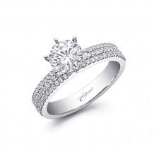 14k White Gold Coast Diamond 0.33ct Diamond Semi-Mount Fishtail Engagement Ring
