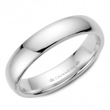 CrownRing 14k White Gold Traditional 5mm Wedding band - TDL14W5