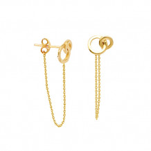 Midas 14k Yellow Gold Interlock Circle Earrings