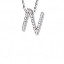 Lau International 14K White Gold Diamond Initial N Pendant